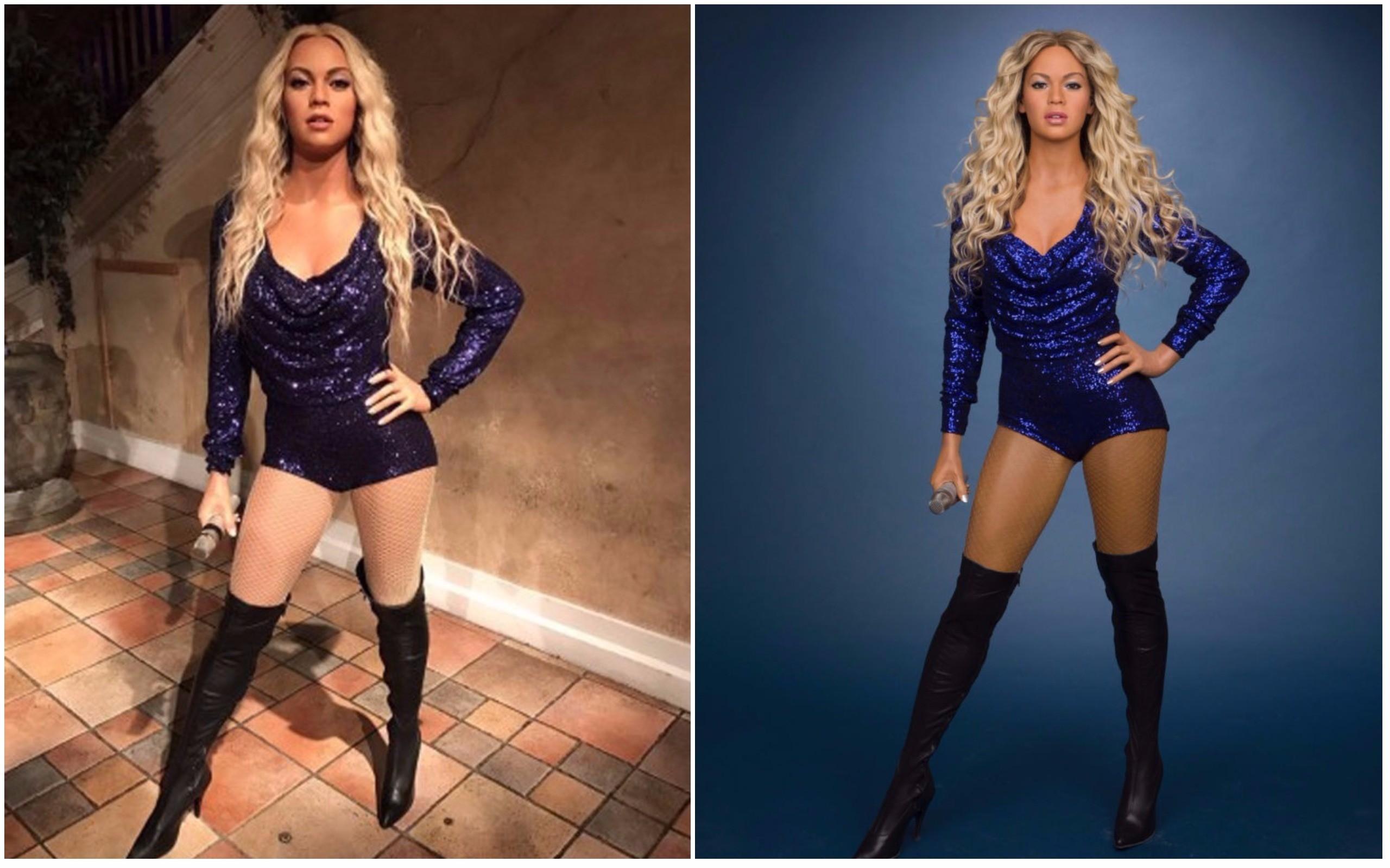 O antes e depois da estátua de cera do Madame Tussauds (Foto: Reprodução / Redes Sociais)