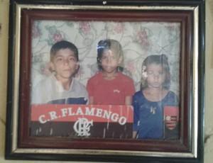 Luan, torcedor do Flamengo (Foto: Denison Roma/ GloboEsporte.com)