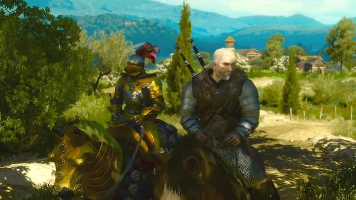 A região de Toussaint é bem diferente de tudo que já vimos em The Witcher 3: Wild Hunt e cabe a Geralt manter esse paraíso em paz (Foto: Reprodução/YouTube)