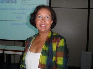 Eulina Nunes dos Santos, do IBGE (Foto: Lilian Quaino/G1)