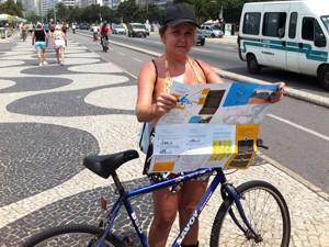 Moradora do Leme comemorou o lançamento do mapa (Foto: Janaína Carvalho)