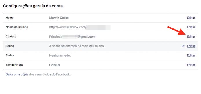 Acessando novamente as opções para contato de uma conta do Facebook (Foto: Reprodução/Marvin Costa) (Foto: Acessando novamente as opções para contato de uma conta do Facebook (Foto: Reprodução/Marvin Costa))
