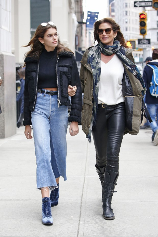 Cindy Crawford e Kaia Gerber (Foto: The Grosby Group / Agência)