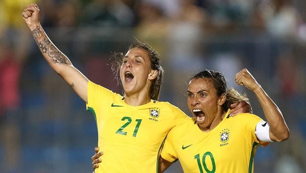 Rede Globo   esportes - Futebol feminino  Brasil estreia contra a ... cd95ddefd67b7