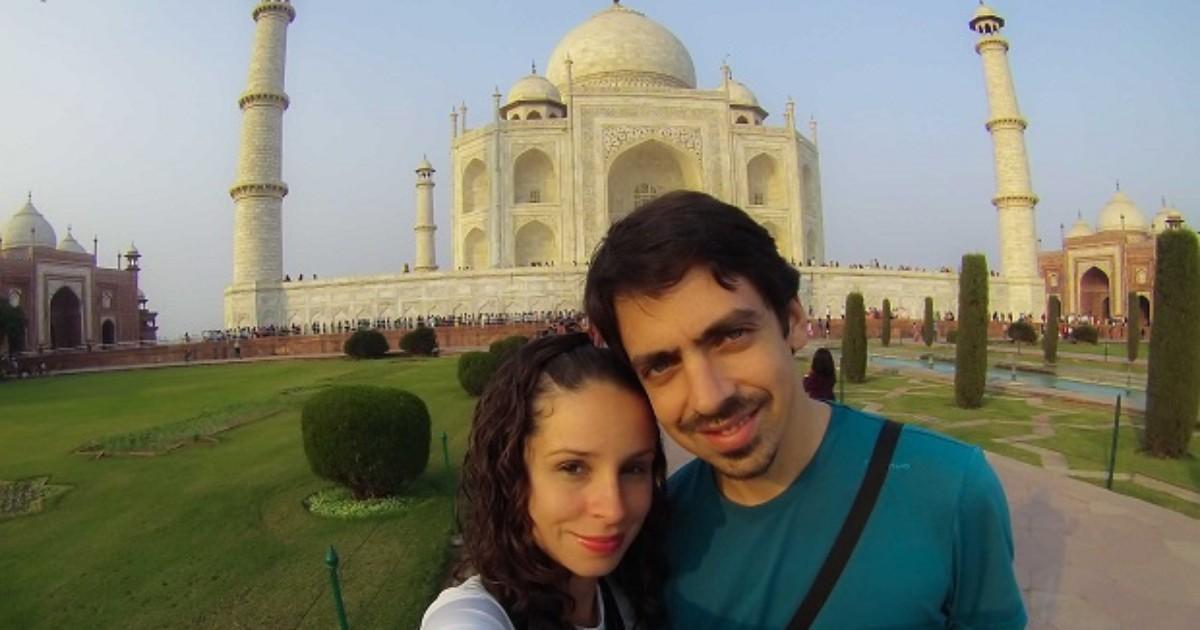 Com R$ 30 por dia, casal do DF viaja de bicicleta e conhece 13 países