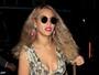 Beyoncé usa look decotado para jantar com Jay-Z nos Estados Unidos