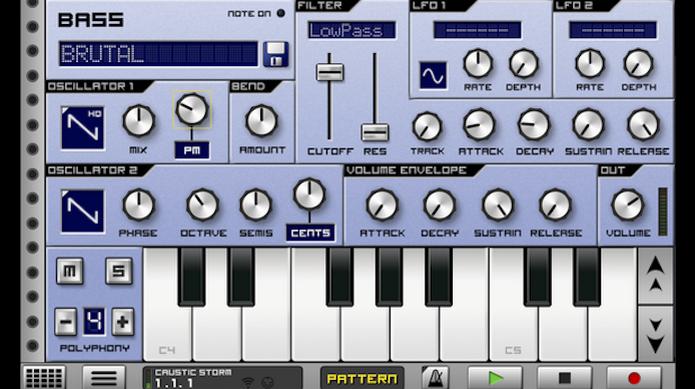 O Caustic 3 é uma ferramenta com diversos tipos de teclados sintetizadores (Foto: Reprodução/Google Play) (Foto: O Caustic 3 é uma ferramenta com diversos tipos de teclados sintetizadores (Foto: Reprodução/Google Play))