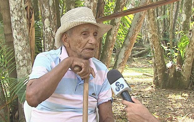Seu José Soares, de 91 anos, conta que tem uma saúde de ferro (Foto: Bom Dia Amazônia)