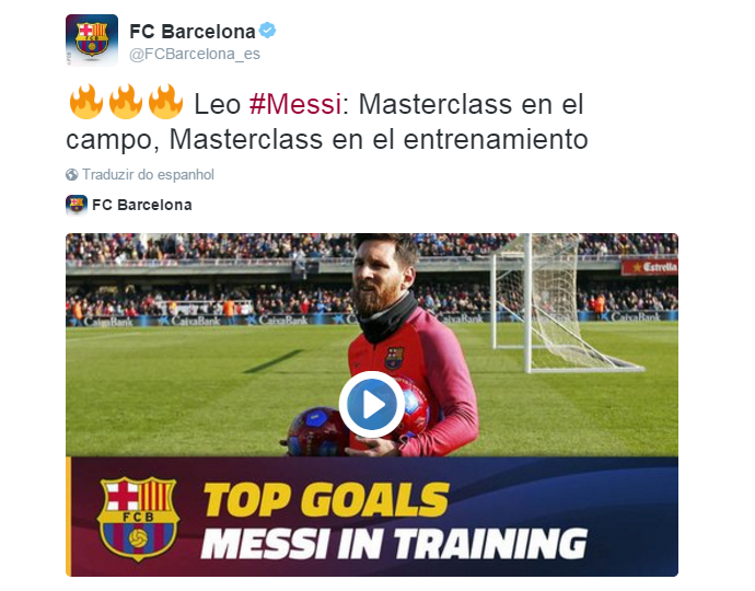 BLOG: Um atrás do outro: Barça divulga vídeo só com gols de Messi em treinos
