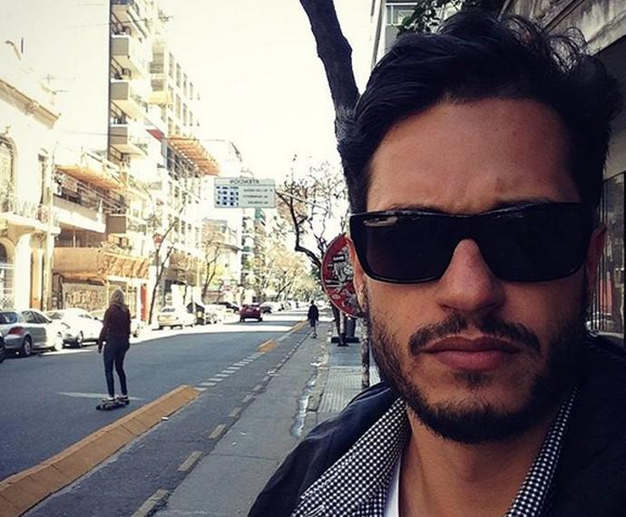 Raphael Vianna nos bastidores de gravação do Desafiados (Foto: Arquivo Pessoal)