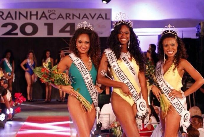 Brennda foi eleita Rainha do Carnaval de Porto Alegre em 2014 pela escola de samba Estado Maior da Restinga (Foto: Arquivo Pessoal)