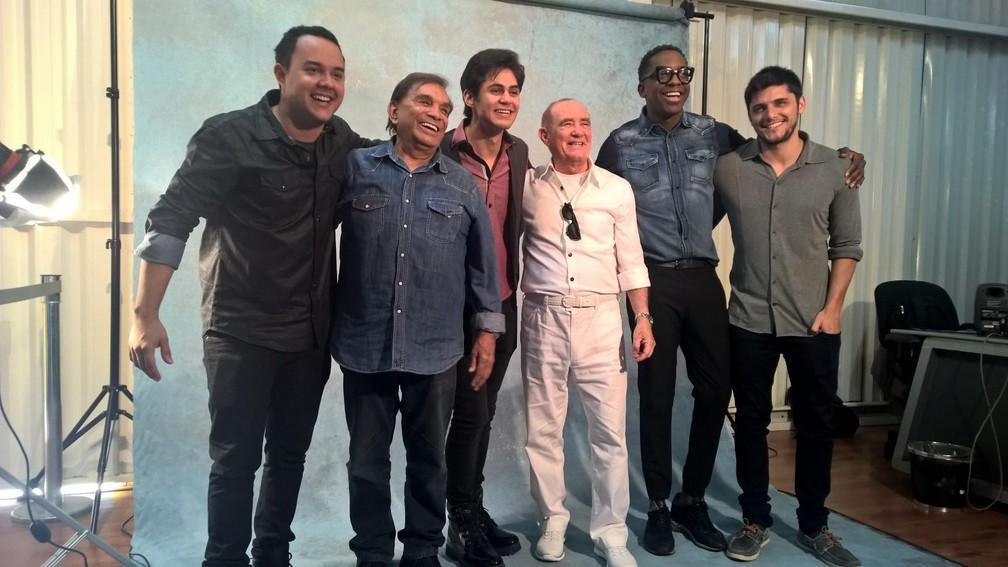 Dedé Santana, Renato Aragão e a nova formação dos Trapalhões. (Foto: Carlos Brito)