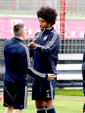 Dante Ribery treino Bayern de Munique (Foto: AFP)