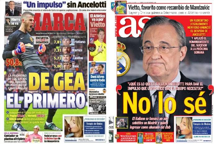 Ancelotti capas jornais