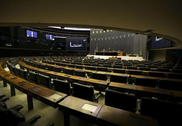 Sessão esvaziada da Câmara dos Deputados um dia antes do recesso (Foto: Marcelo Camargo/Agência Brasil)