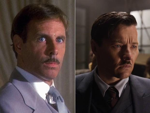 Bruce Dern, em 1974, e Joel Edgerton, em 2013, deram vida ao personagem Tom Buchanan no cinema (Foto: Divulgação)