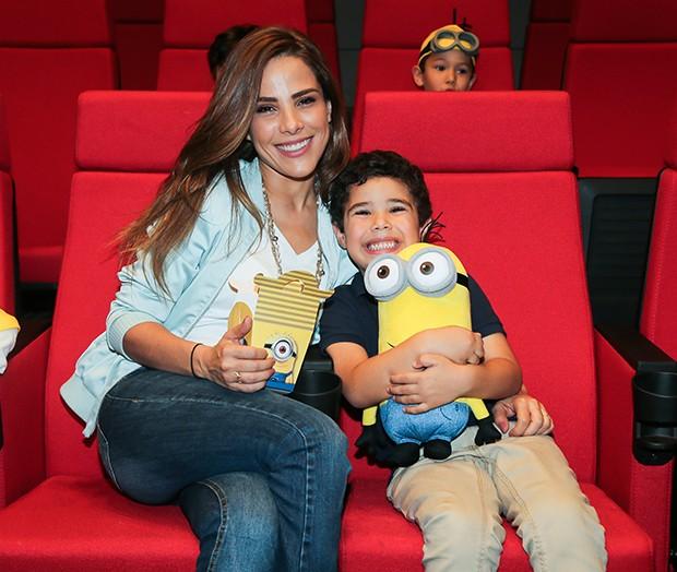 Wanessa Camargo com o filho, José Marcus (Foto: Manuela Scarpa/Brazil News)