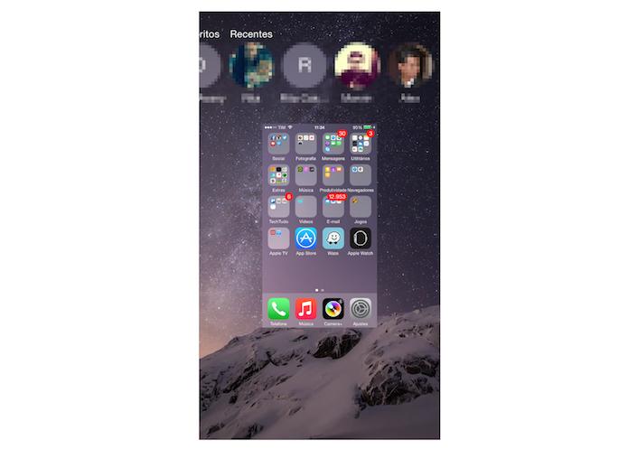 iPhone sem nenhum aplicativo aberto em segundo plano (Foto: Reprodução/Marvin Costa)