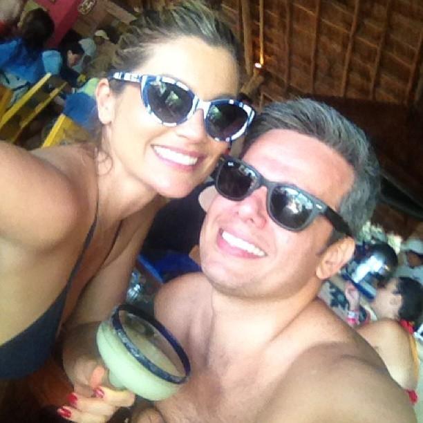 Flávia Alessandra e Otaviano Costa no México (Foto: Instagram/ Reprodução)