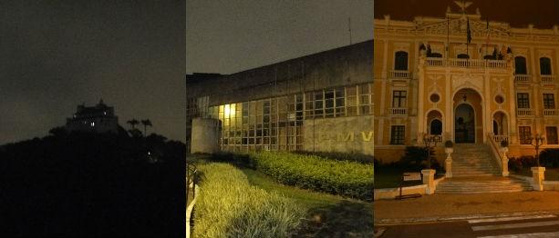 Conento da Penha, Palácio Anchieta e Prefeitura de Vitória aderiram ao movimento (Foto: Eduardo Candeiras e Alexandre Silva / Divulgação Aspe)