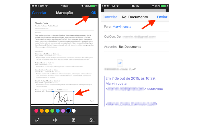 how to download pdf on iphone from email