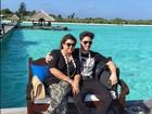 Preta Gil e Rodrigo Godoy posam nas Ilhas Maldivas