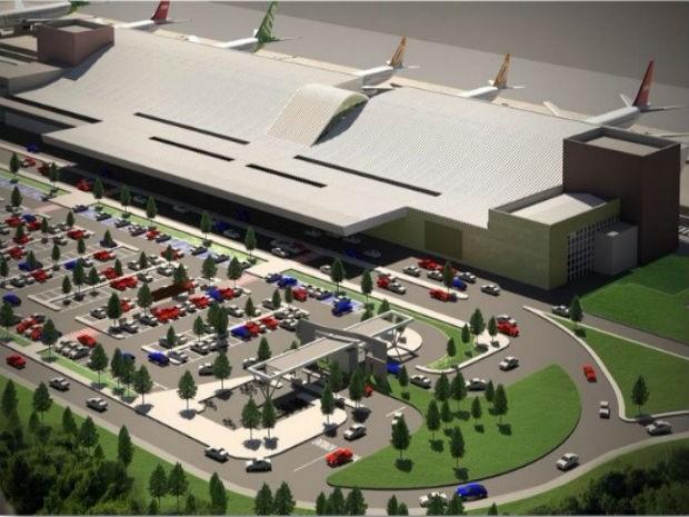Aeroporto terá nova área de embarque, desembarque e estacionamento (Foto: Divulgação/Infraero)