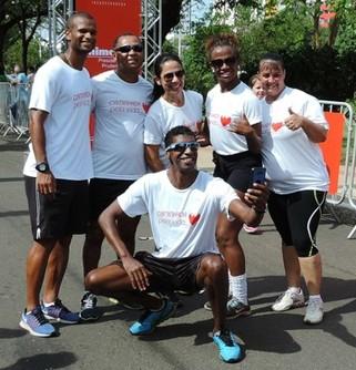Os atletas olímpicos, André Domingos e Gustavo Henrique Araújo, também marcaram presença (Foto: Kawanny Barros / GloboEsporte.com)
