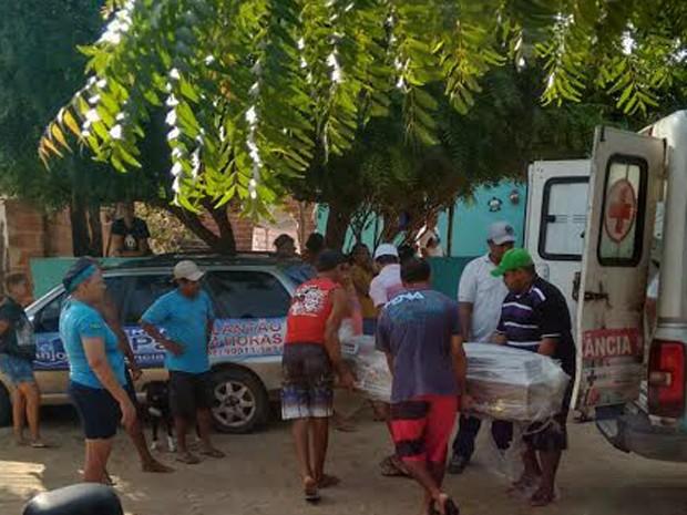 Corpo do rapaz chegou no início da manhã em Barra Grande (Foto: Marcos Cazuza/Arquivo Pessoal)