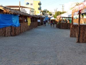 Cidade de Inhambupe se transforma em arraial no São João (Foto: Cleber Mendes Santana/Arquivo pessoal)