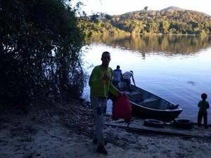 Cucaú aproveita folga para praticar pescaria (Foto: Cucaú/Arquivo Pessoal)
