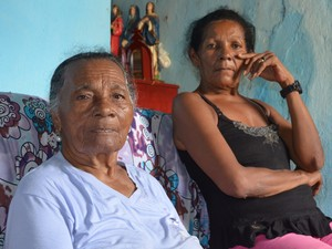 Maria Monteiro da Silva, 76 (a esquerda) e a agricultora, Severina dos Santos Sales Oscar da Silva, 57, vítimas da barragem de Camará (Foto: Wagner Lima/G1 PB)