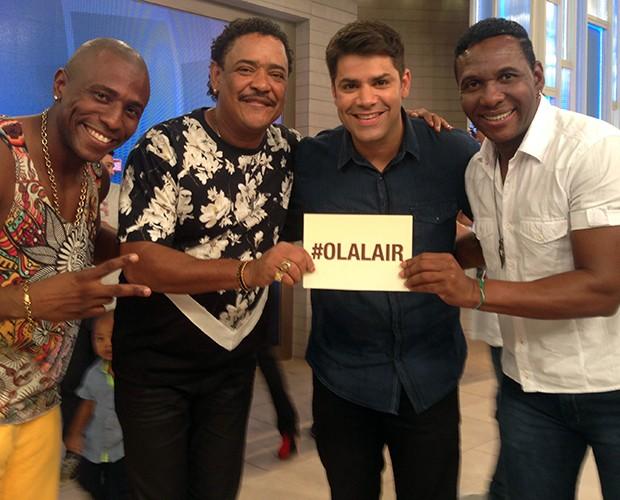 Da esquerda para a direita: Black MC, Compadre Washington, Lair Rennó e Beto Jamaica (Foto: Samir Miguel / Gshow)