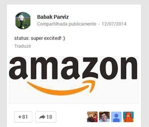 Criador do Google Glass vai trabalhar na Amazon