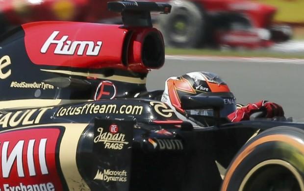 Lotus - Kimi Raikkonen - GP da Inglaterra (Foto: EFE)