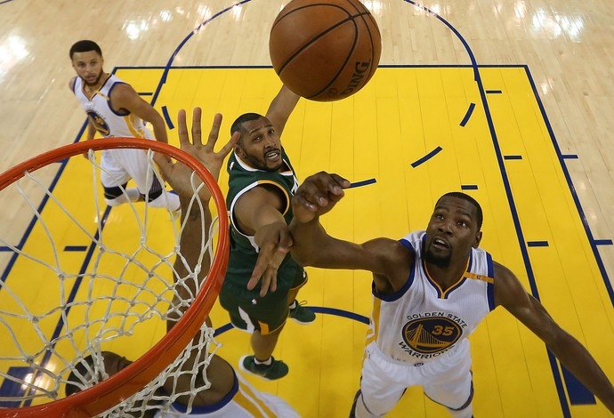 Golden State Warriors x Utah Jazz NBA playoff (Foto: Ezra Shaw/Getty Images)