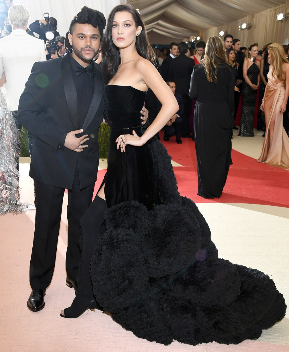 Bella Hadid e The Weeknd, antes do término... (Foto: Getty Images)