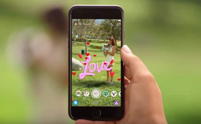 World Lenses 3D do Snapchat adiciona objetos virtuais a fotos e vídeos (Foto: Reprodução/Snapchat)