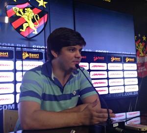Guilherme diretor Sport (Foto: Elton de Castro)