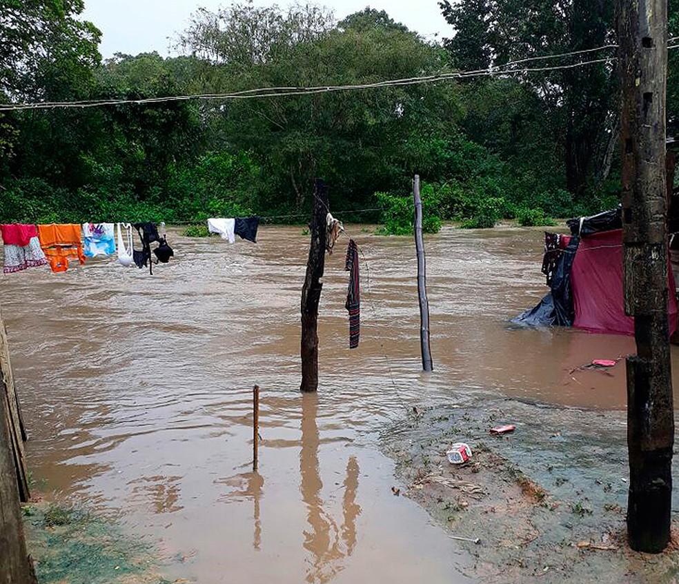 Chuva atingiu a cidade entre o domingo (9) e esta segunda (10) (Foto: João Brito/ Ascom Pau Brasil)