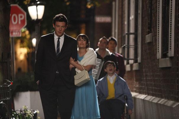 Glee - Finn tenta reconquistar Rachel com encontro romântico pela cidade (Foto: Divulgação / Twentieth Century Fox)
