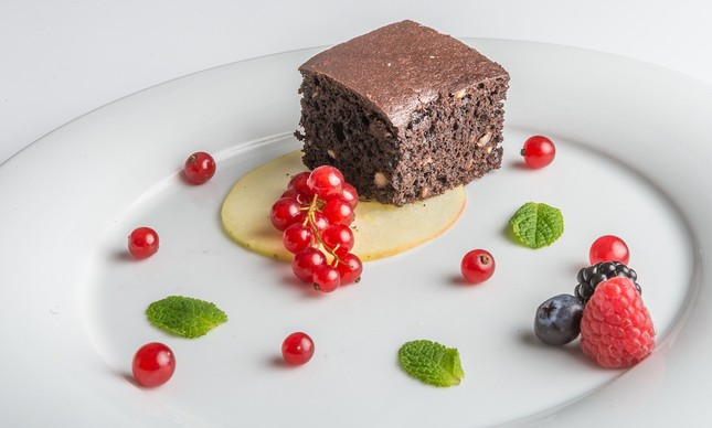 Delicioso brownie de feijão preto