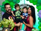 Priscila Pires comemora três anos do filho mais velho com feijoada