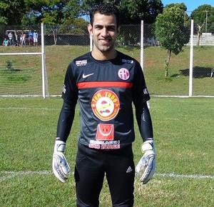 Goleiro do América no Campeonato Amador de Uberlândia, Jonatas Ribeiro (Foto: Wilson Barbosa)