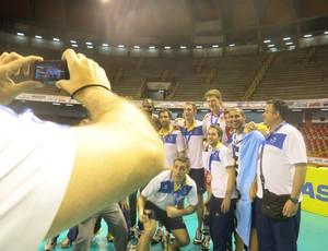 premiaçao mundial de clubes volei muserskiy e jogadores upcn al-rayyan (Foto: Danielle Rocha)