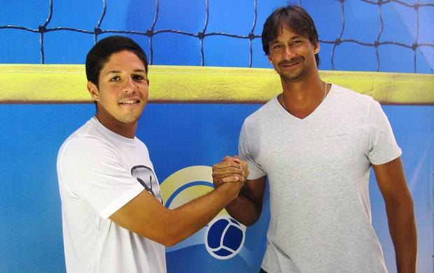 Álvaro Filho e Ricardo vôlei de praia (Foto: Divulgação / CBV)