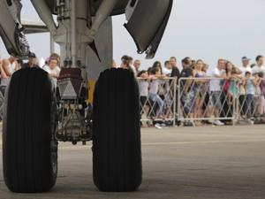 Portões Abertos teve exposição de aviões e helicópteros (Foto: Carlos Santos/G1)