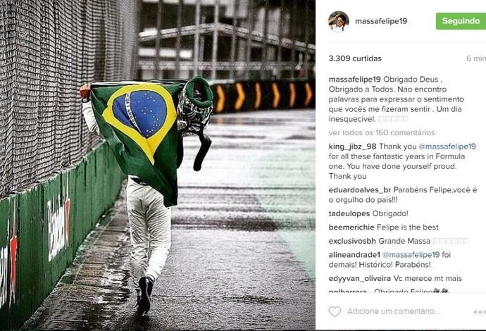 Felipe Massa instagram gp do brasil de formula 1 (Foto: Reprodução/Instagram)