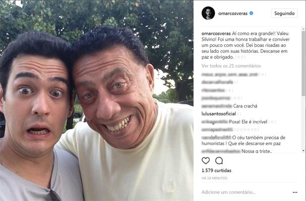 Marcos Veras lamentou a morte de Paulo Silvino (Foto: Reprodução/Instagram)