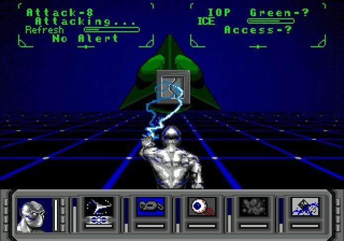Não é mera coincidência que a rede neural de Shadowrun se chame Matrix (Foto: Reprodução)
